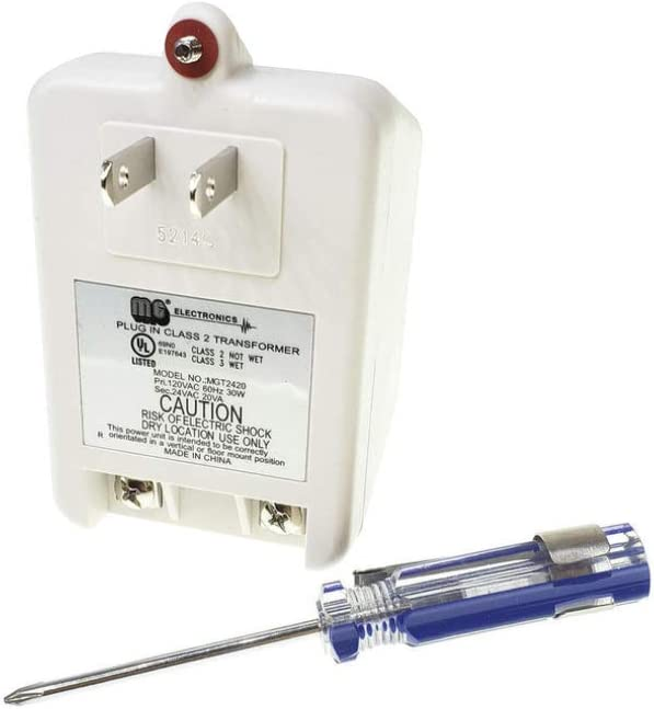 MG Electronics MGT2420 24V Transformer with Bonus Mini Phillips Screwdriver