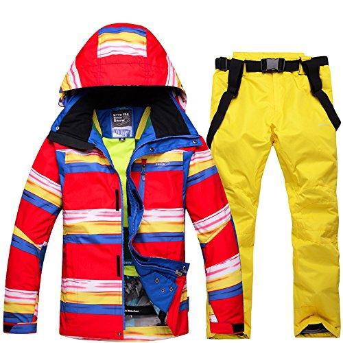 Yellow Y Pants Windproof M Women Ski Zipper R Waterproof JACKETS DYF Coat Men Jacket Suit FYM Warm q6fw0xZU