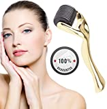 Vistery Derma Roller MicroNeedles 540 Pins Skin Cleaning System Personal Beauty Tool for Home Use, Micro Needle - For Stretch Marks & Acne Scars and Hair Loss - 0.3mm
