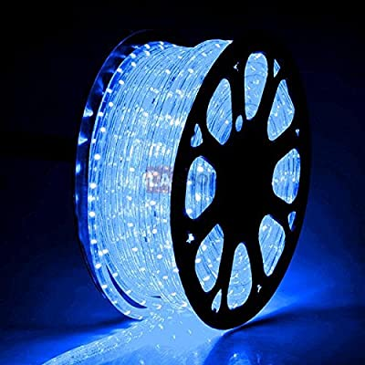 MegaBrand Christmas Lighting LED Rope Light 150ft Blue w/ Connector