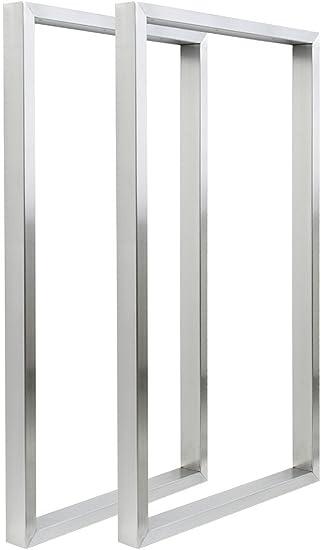 2x Patas de la Mesa Acero Inoxidable 40 x 72 cm V2Aox: Amazon.es ...