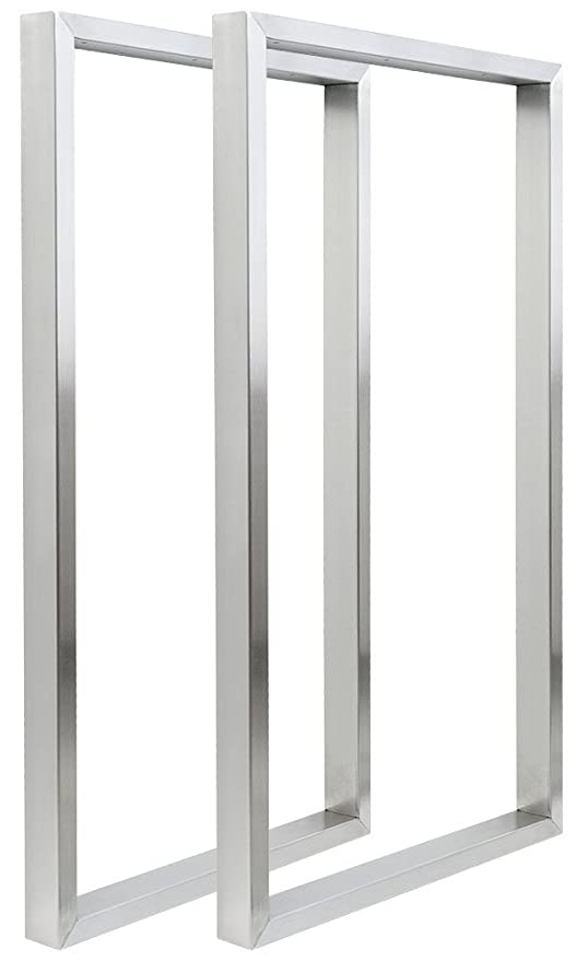 2x Patas de la Mesa Acero Inoxidable 40 x 72 cm V2Aox ...