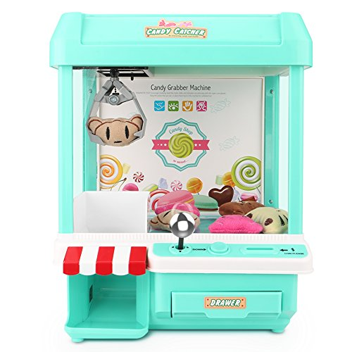 The Toy Grabber Claw Machine for Kids,Indoor Arcade Gams, Ideal for Use with Small Toys / Candy,Features LED Lights and Sound Effects, Mini Candy Claw Toys for 1 2 3 4 5 Year Old Boys Girls Best Gif