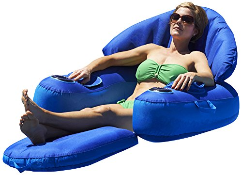 Blue Wave Leisure Cloud Fabric Covered Pool Lounger (Covered Towable)