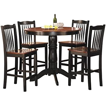 Homelegance 2458 36 5 Piece Round Counter Height Dining Set
