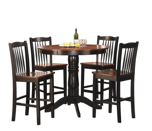 (Homelegance 2458-36 5-Piece Round Counter Height Dining Set)