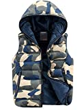 Only Faith Men's Autumn & Winter Cotton-padded Vest Camouflage Down-like Fashion Couple Wasitcoat (XXL(chest:44.88''), Blue)