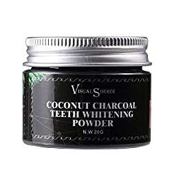 Fightsong Activated Charcoal Teeth Whitening Powder | Whitens and Cleans | Gentle on Gums, No Bleaching | Natural Coconut Shell Formula | Freshens Breath