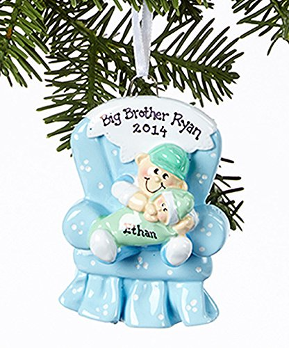 Brother Personalized Ornament Big (2308 Big Brother Chair Hand Personalized Christmas Ornament)