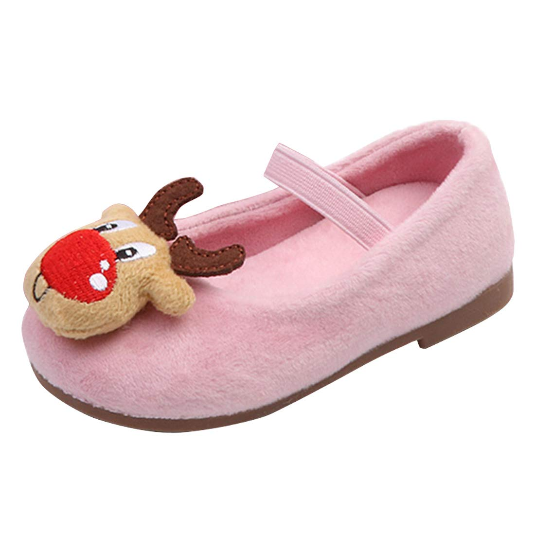 YIBLBOX Toddler Infant Kids Girls Mary Janes Ballet Flats Slippers Winter Shoes