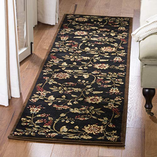 Safavieh Lyndhurst Collection LNH552-9091 Traditional Floral Black and Multi Runner (2'3