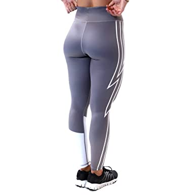 52159a047ba362 Women's Workout Leggings Lightning Sports Exercise Yoga Pants Gym Tights  Push Up Fitness Running Athletic Pants Tummy Control High Waist Trousers  Sportswear ...