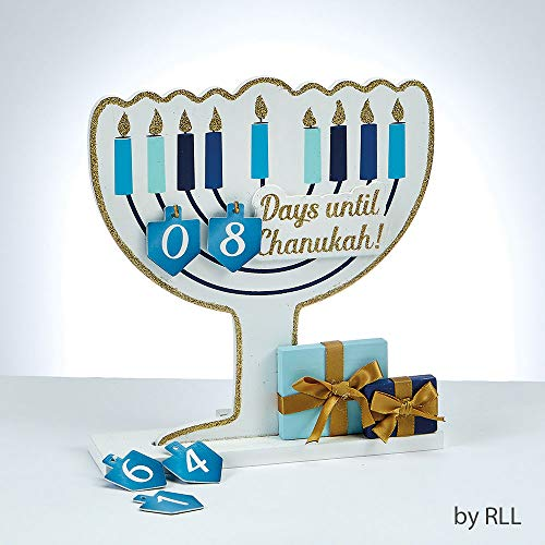 Wood Chanukah Countdown -