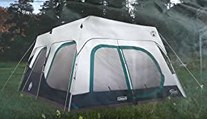 Coleman Instant 10 Person Cabin Tent with Rain Fly 2 Rooms 6 Ft 4 In Center Height
