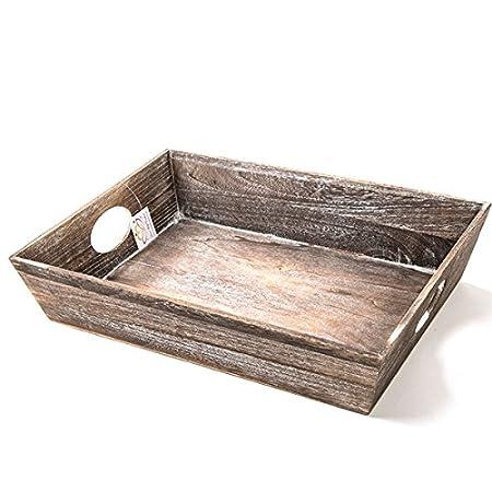 Wholesale The Goldington Brown Wooden Tray Carton Of 6 Storage