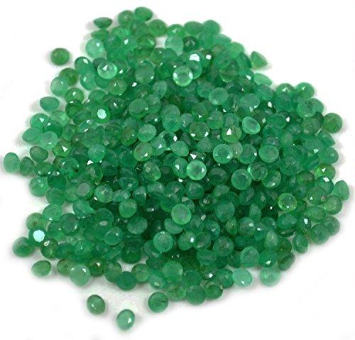Wholesale 10 CTS OF Natural Emerald Round 4mm 35Pcs, 100% GemMartUSA Loose (Cts Lab)