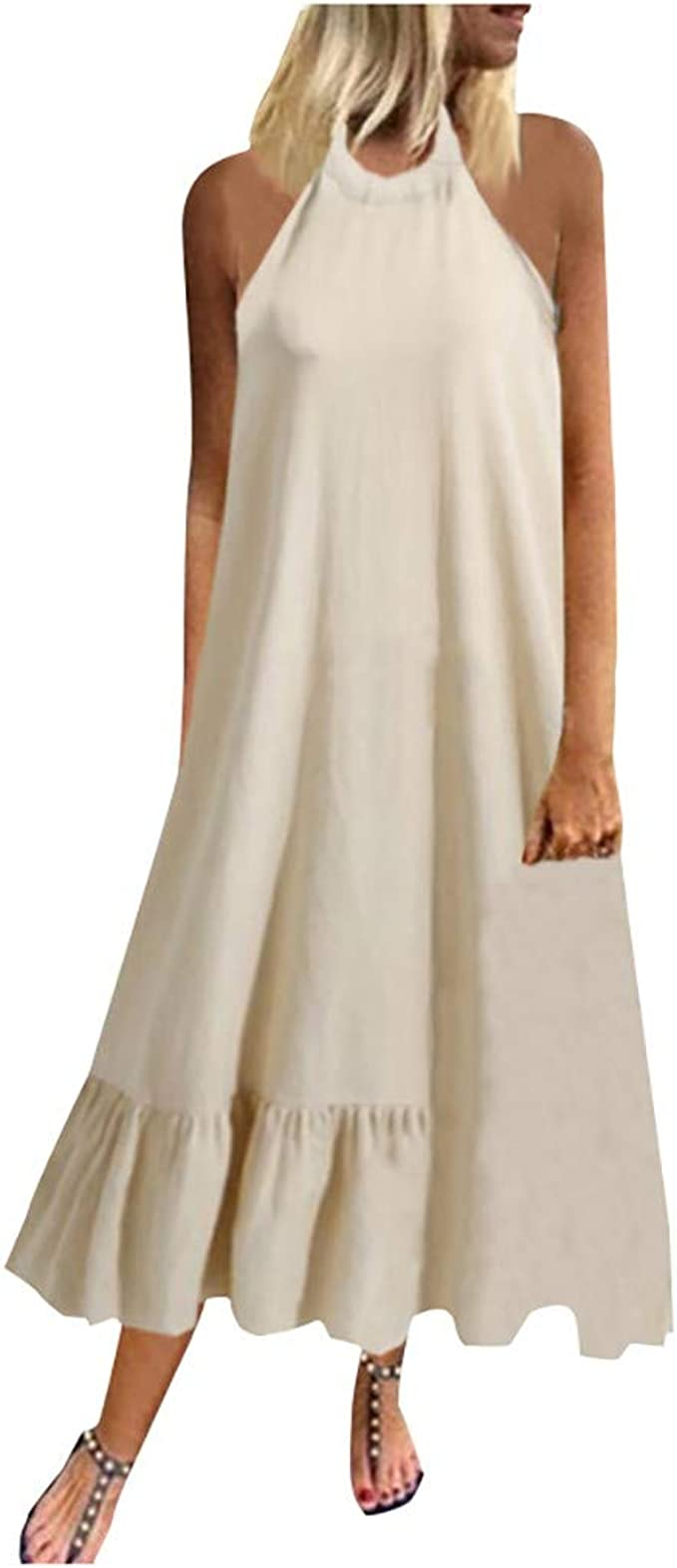 Elegant Kleider Damen Business Sommer Casual Böhmen Petticoat
