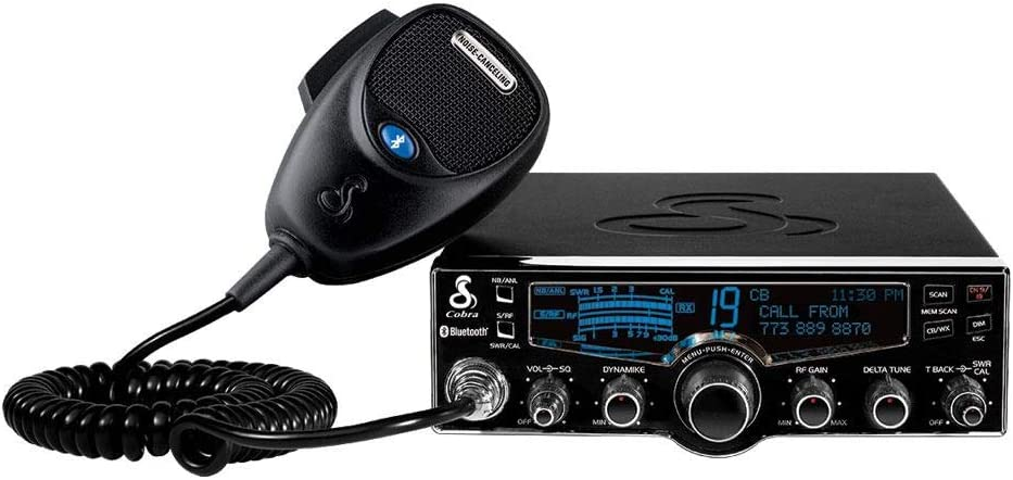 Cobra 29LXBT Professional CB Radio - Emergency Radio, Travel Essentials, Bluetooth Connectivity, Selectable 4-Color LCD, NOAA Weather and Emergency Alerts, Caller ID, Text to Speech