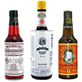 "Bitters XL ""Triple Play"" Variety 3-Pack: Angostura, Peychauds and Regans"