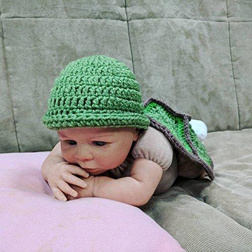 Amazoncom Crochet Newborn Turtle Outfit Baby Photo Props Newborn