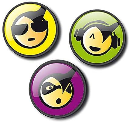 Chapas Mochila Nikidom Roller (Emoticons Cool)