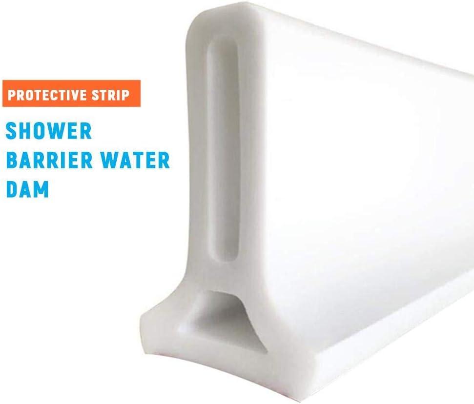 winnerruby Shower Barrier Water Stopper Seuil De Douche Repliable De 50cm-120cm Syst/ème De Barri/ère De Douche pour Barrage D/'Eau Et Maintient L/'Eau /À L/'int/érieur du Seuil