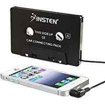 INSTEN 3.5mm Universal Car Audio Cassette Adapter for Smartphones, 3-Feet Cord (Black)