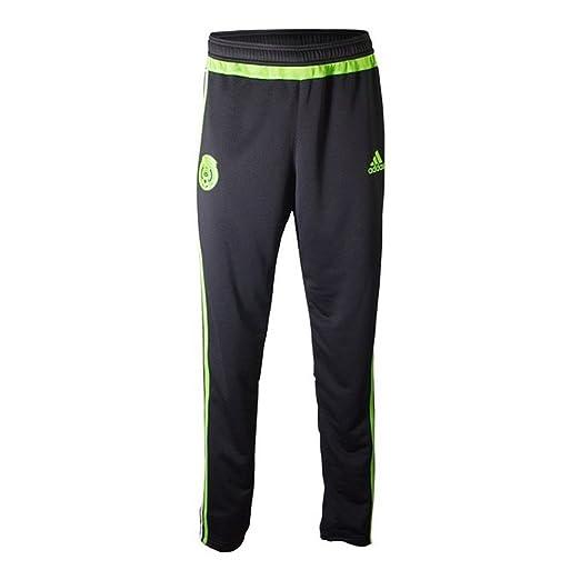 c45e67675 Amazon.com: Adidas Mexico Soccer Training Pant (Black, Semi-Solar Green):  Sports & Outdoors