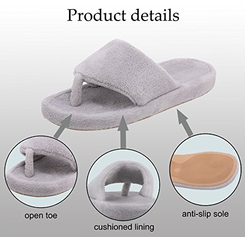 Flip House Thong Women Onmygogo Flops Support Fleece Coral Arch Slippers for and Slippers Women with Men Purple qwwt8xvRS