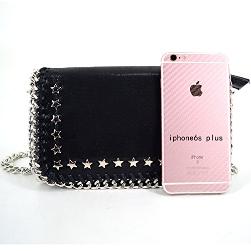 Flap Purse Paillette Black Handbag Chain Bag Crossbody Star Rivets Felice Womens Messenger Girl Metallic Shoulder qn6IBE