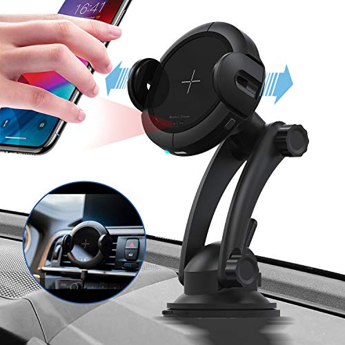 KOAKUMA Wireless Car Charger Mount, Automatic Clamping Car Mount Air Vent Phone Holder with 15W QI Fast Charging Compatible with iPhone X/XS Max/XS/XR/8/8 Plus, Samsung Galaxy S10/S10+/S9/S9+/Note 9/8 by KOAKUMA (Image #8)