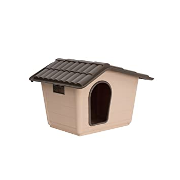 Caseta para perros gatos Sprint Mini Eco Beige de plástico Casa de exterior Riparo Jardín 60 x 50 x 41h cm: Amazon.es: Jardín