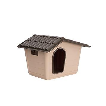 Caseta para perros gatos Sprint Mini Eco Beige de plástico Casa de exterior Riparo Jardín 60