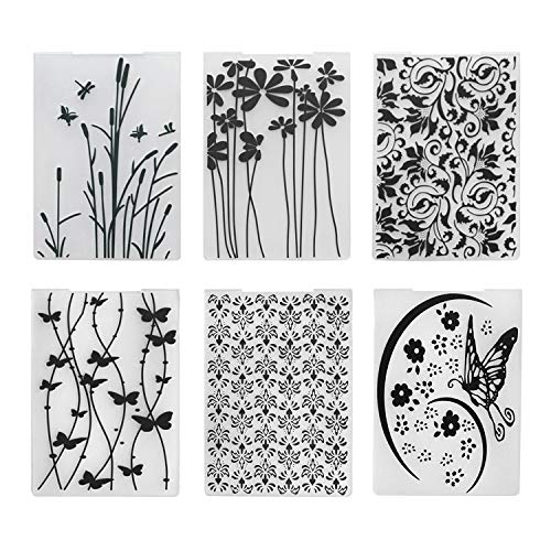 6pcs Plastic Embossing Folder Flower Animal DIY Scrapbooking Photo Album Card Paper Craft Decoration Template Mold