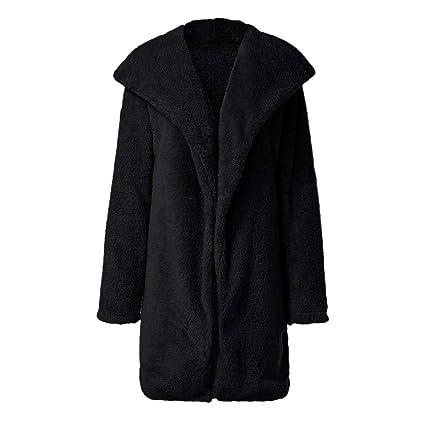 FELZ Abrigos Mujer Invierno Abrigo Chaqueta de Invierno de Solapa de Piel sintética para Mujer Abrigo: Amazon.es: Ropa y accesorios