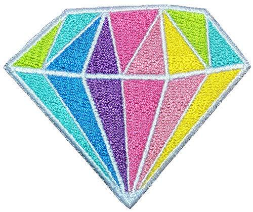 - Papapatch Colorful Rainbow Diamond Jewel Gem Precious Stone Embroidered Sew on Iron on Patch (Colorful-Diamond)