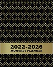2022-2026 Monthly Planner: 5 year Monthly Calendar Planner January 2022 Up to December 2026 For To do list Organizer And 60 Months Academic Notebook Agenda Schedule for time management with Gold Black Cover (5 year planner 2022-2026 monthly)