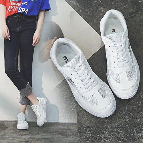 NGRDX&G Calzado Deportivo Para Mujeres Estudiantes Calza Zapatillas Transpirables White