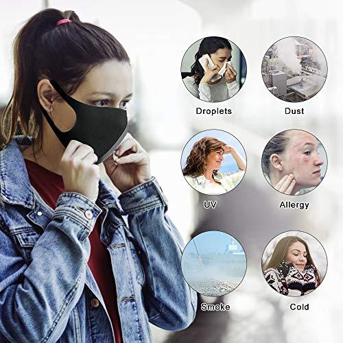 51RES%2BF40QL. SS500 【Material permeable】: Hecho de poliuretano de alta calidad, transpirable, a prueba de viento, absorbe el sudor, cómodo y agradable para la piel. 【Adecuado para casi todo el mundo】: lo suficientemente ancho como para cubrir la nariz, la boca y la cara. Los materiales suaves y cómodos no dejan marcas en el rostro cuando se quitan. 【Uso versátil】: mantiene el polvo alejado hasta en un 99%; filtra eficazmente el polvo, el polen, el humo y para pintar, correr, andar en bicicleta, practicar deportes, hacer senderismo y otras actividades al aire libre.