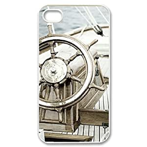 Beautiful Sailboat Rudders Unique Design Cover Case with Hard Shell Protection for Iphone 4,4S Case lxa#402122