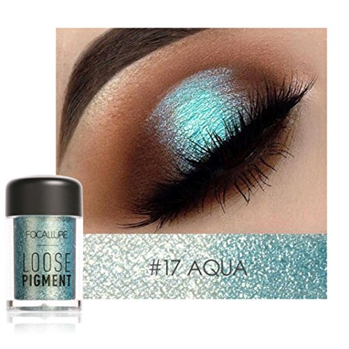 FOCALLURE Shimmer Glitter 12 Colors Eye Shadow Makeup Pearl