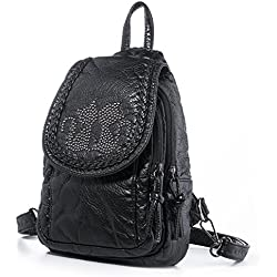 Cat Handbag Mini Backpack For Women Small Soft Washed Leather Backpacks  Girls Casual Daypack Shoulder Chest 160213a486