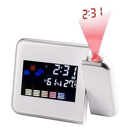 Proyección Cuadrada Negra Clima Digital LCD Posponer Despertador ...