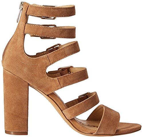 Caramel Edelman Sandal Yasmina Sam Women's Golden Heeled wq0aFxR8Y