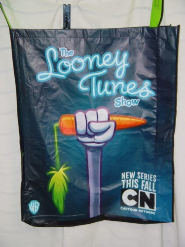 San Diego Comic Con 2010 The Looney Toons Show Swag Bag Showing Bugs Bunny's Hand Holding up a carrot Approx. 24 x 30