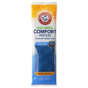 Arm & Hammer Odor Control Comfort Insoles with Pillow Soft Memory Foam (1)