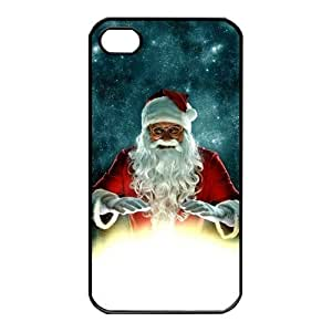 UCMDA Christmas Style Santa Claus Pattern Phone Cover Cases Skin Compatible for Iphone 5 5s by icecream design