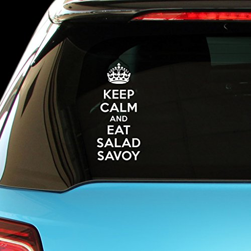 KEEP CALM AND EAT SALAD SAVOY Vegetable Car Laptop Wall Sticker
