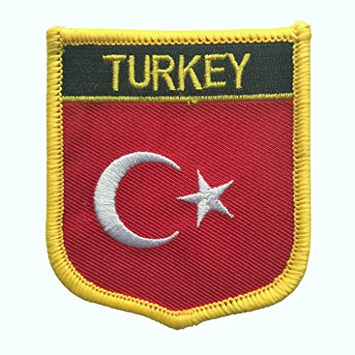 Turkey Flag Patch / International Crest Iron On Badge (Turkish Crest, 2.75