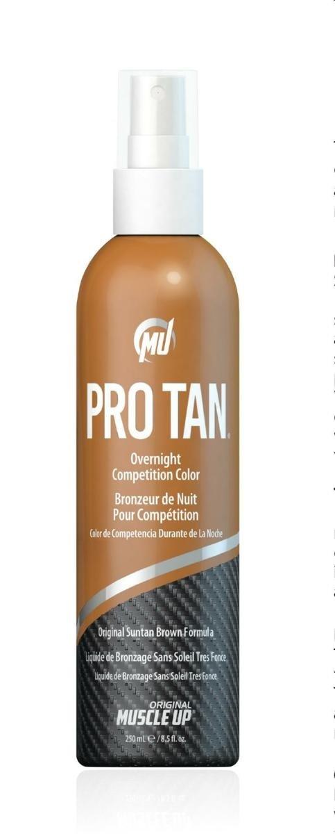 Pro Tan Overnight Competition Colour Original Suntan Brown Bronzing Formula with Foam Pad - 250 ml